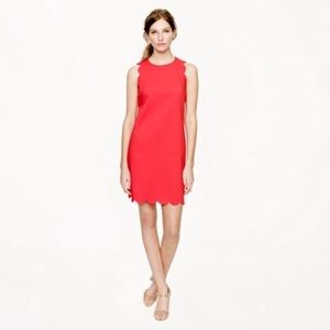 J Crew Scalloped Sleeveless Dress